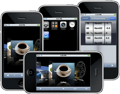 Screenshot of ComponentOne Studio for iPhone