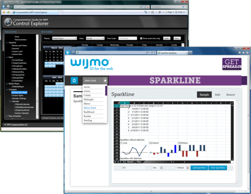 Screenshot of ComponentOne Ultimate + Wijmo Enterprise