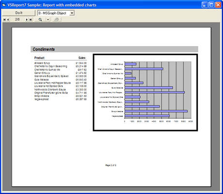 Screenshot of VSVIEW Reporting Edition