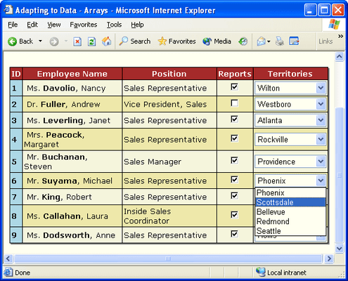 Screenshot of ComponentOne WebGrid for ASP.NET