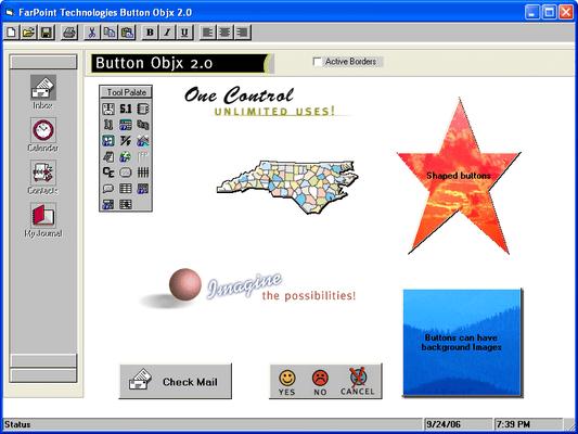 Captura de pantalla de Button Objx