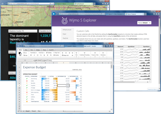 Wijmo Enterprise 屏幕截图