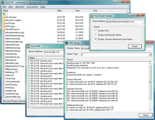 Screenshot von ComponentSpace Internet Component Suite