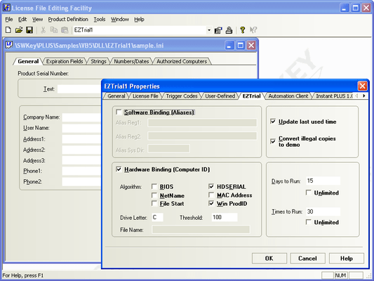 Screenshot of Protection PLUS Enterprise Edition