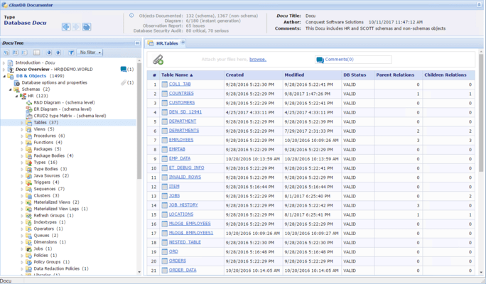 Screenshot of ClearDB Documenter