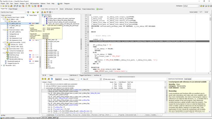 Screenshot von ClearSQL