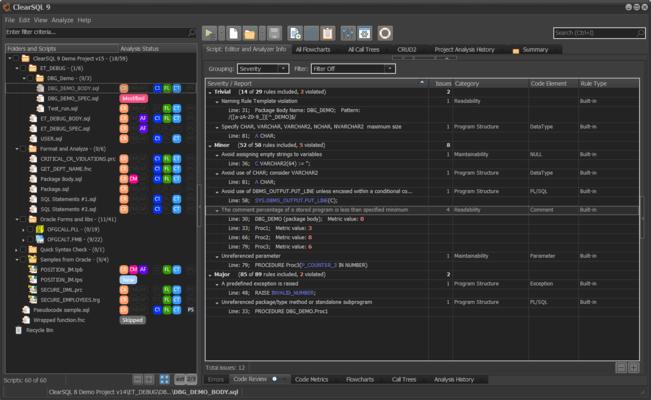 ClearSQL 的螢幕截圖