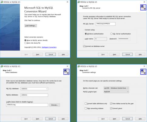 MS SQL Migration Toolkit(英語版) のスクリーンショット