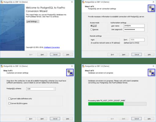 PostgreSQL Migration Toolkit(英語版) のスクリーンショット