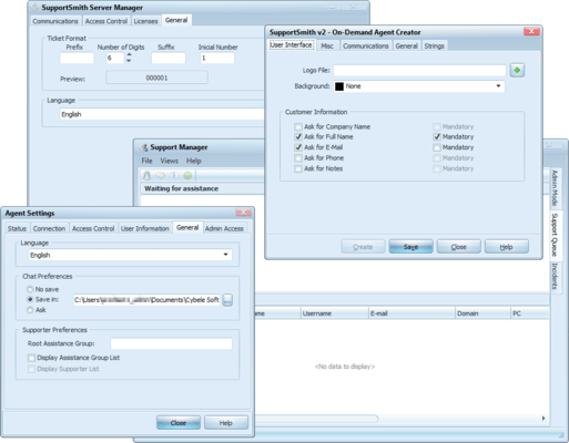 Screenshot of SupportSmith IT Support
