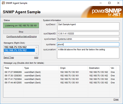 Screenshot of PowerSNMP for .NET