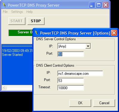 PowerTCP Server for ActiveX(英語版) のスクリーンショット