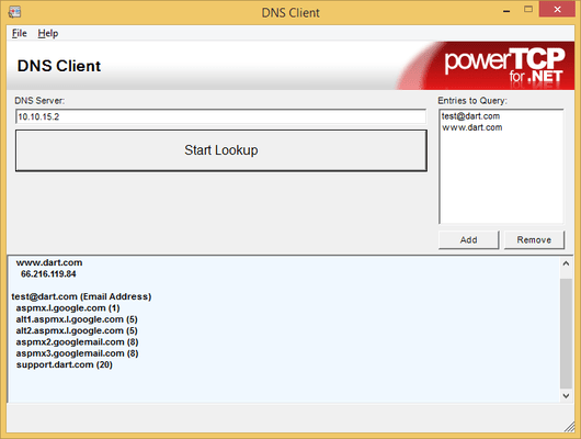 Capture d'écran de PowerTCP Sockets for .NET