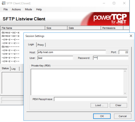 PowerTCP SSH and SFTP for .NET のスクリーンショット