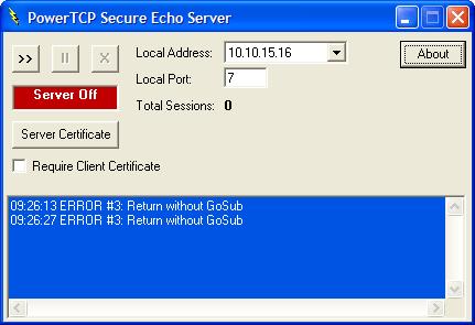 Screenshot of PowerTCP SSL for ActiveX