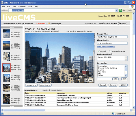 Screenshot of PowerWEB LiveControls for ASP.NET