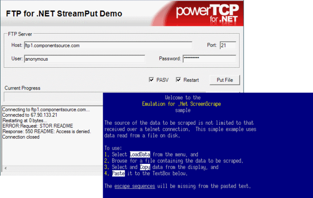 Screenshot of PowerTCP .NET Suite Subscription