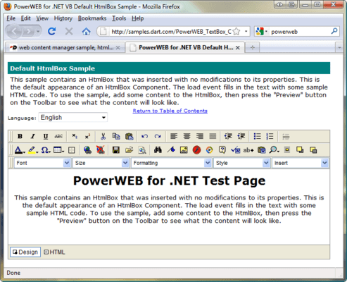 Screenshot of PowerWEB for ASP.NET Suite