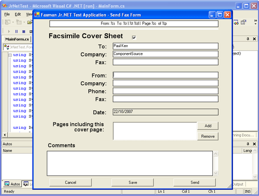 Screenshot of FaxMan Jr.