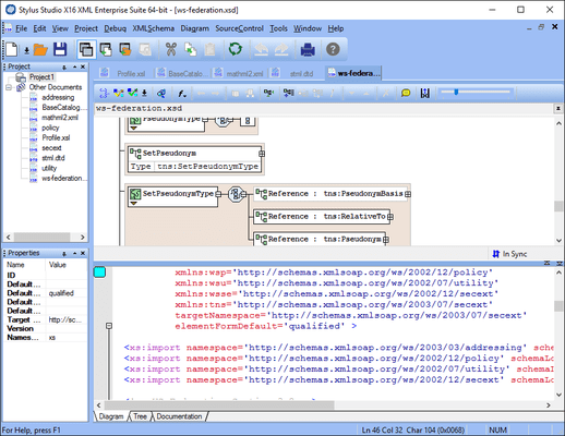 Screenshot of Stylus Studio XML Academic