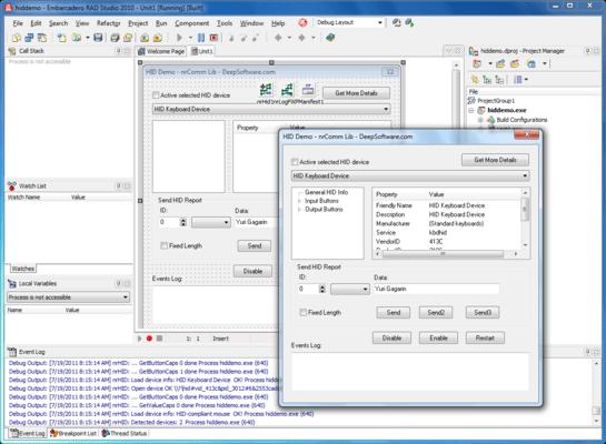 Screenshot of nrComm Lib