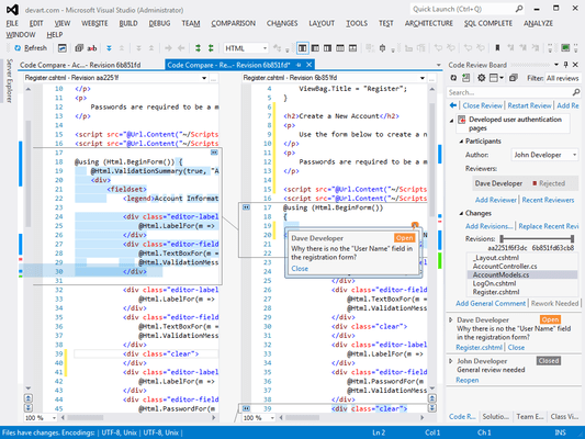 Screenshot of Code Compare