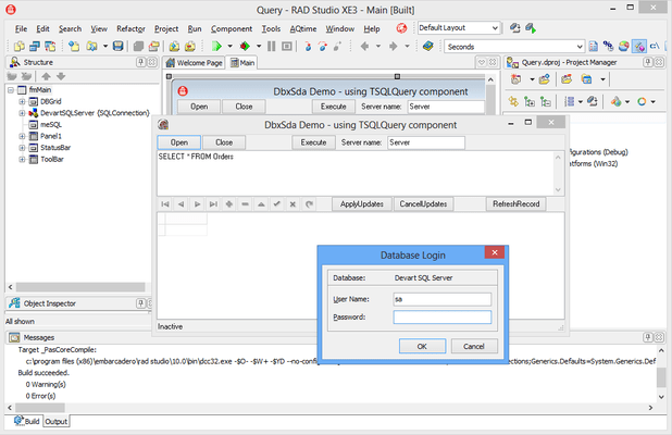 Screenshot of dbExpress Driver for Microsoft SQL Server