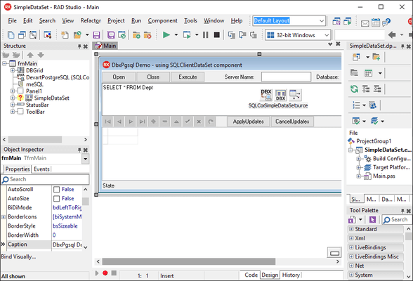 Screenshot of dbExpress Driver for PostgreSQL