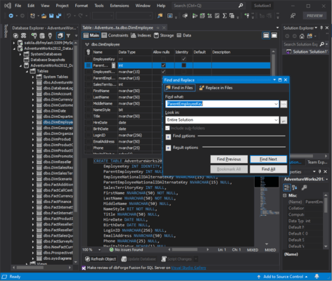 Screenshot of dbForge Fusion for MySQL