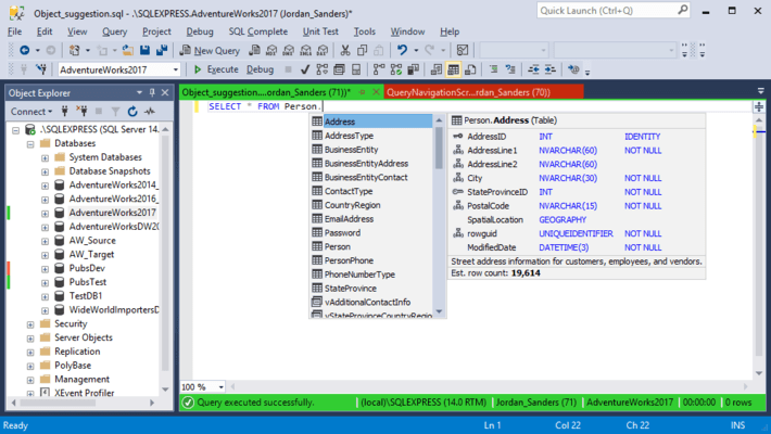 Screenshot of dbForge SQL Complete