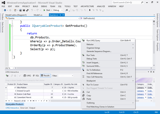 Screenshot of LINQ Insight