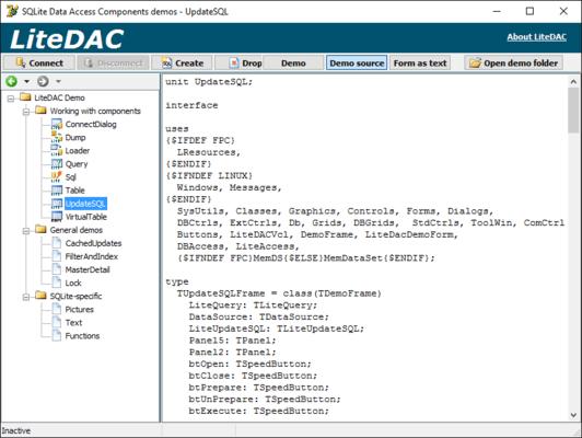 Über SQLite Data Access Components (LiteDAC)