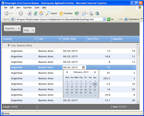 Screenshot of AgDataGrid Suite