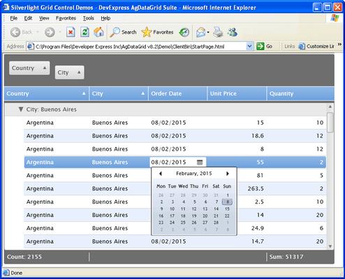 Screenshot of AgDataGrid Suite