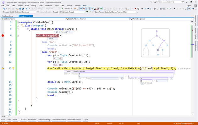 Screenshot of CodeRush