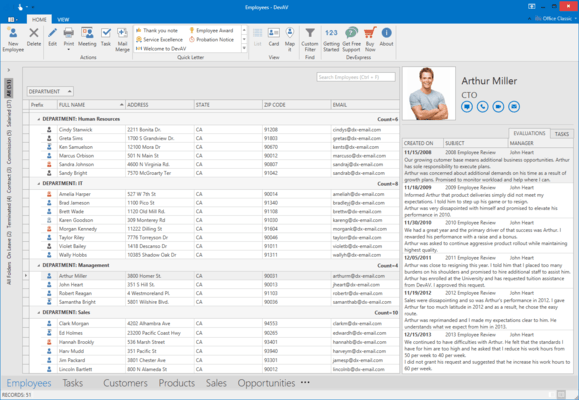 Screenshot of DevExpress WPF Online Training