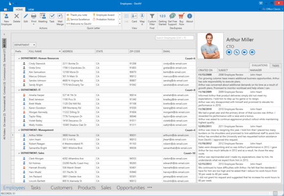 Screenshot of DevExpress WPF Online Training