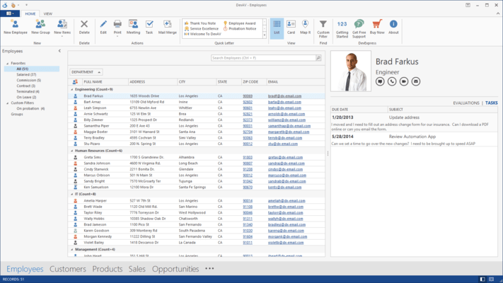 Screenshot of XtraBars Suite