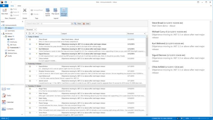 Screenshot of XtraNavBar Suite