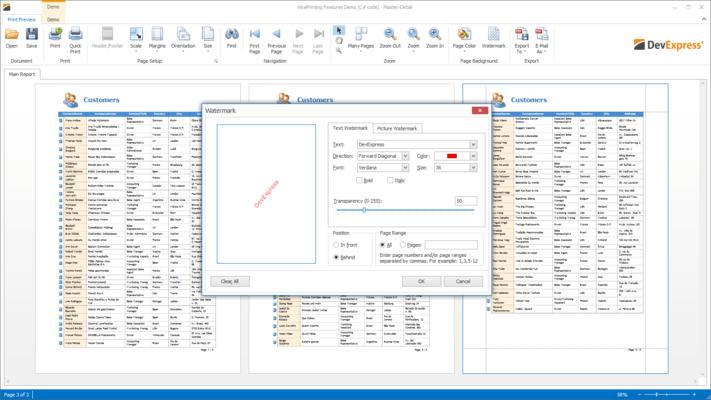 Screenshot of XtraPrinting Library
