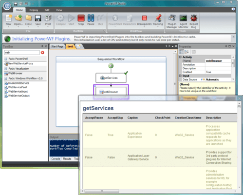 Screenshot of PowerWF for Operations Manager