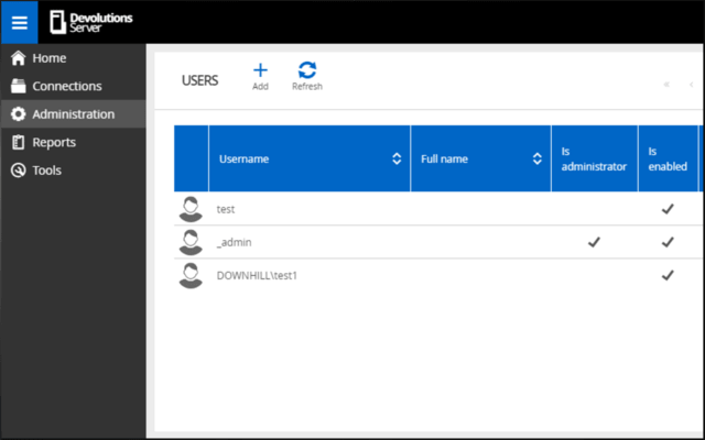 Screenshot of Devolutions Password Server
