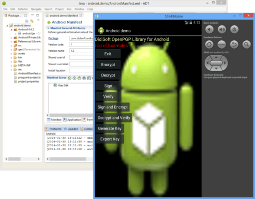 Screenshot of OpenPGP Library for Android