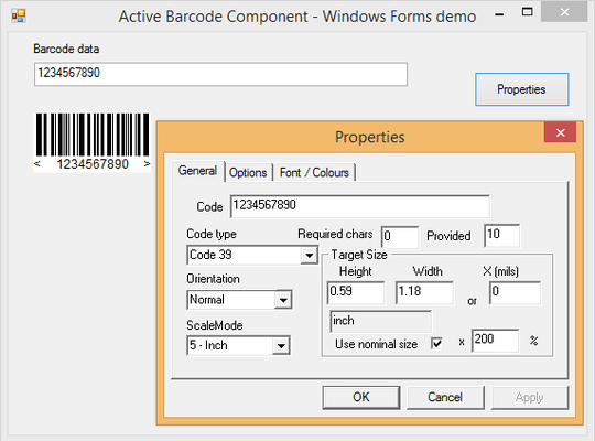 About Active Barcode Component - Standard