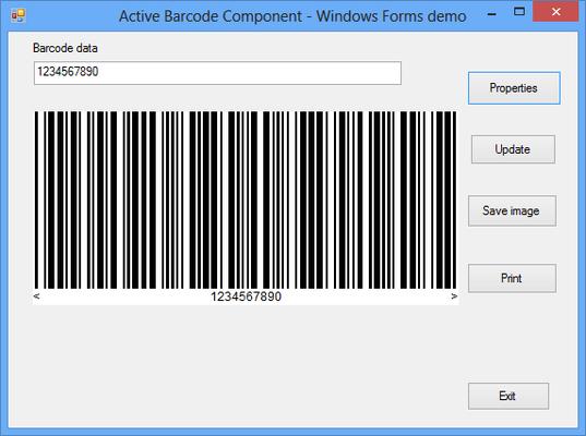 Captura de pantalla de Active Barcode Component - Universal