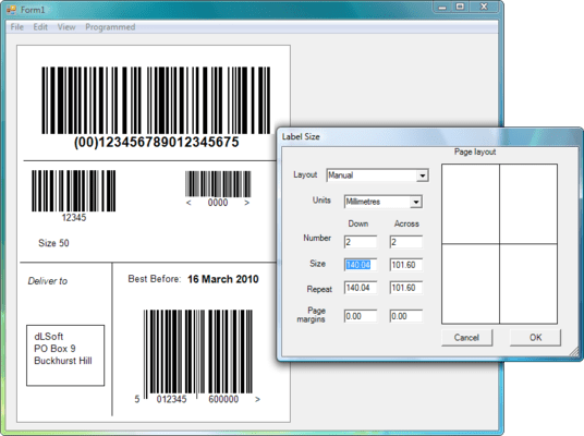Screenshot of Labels.NET