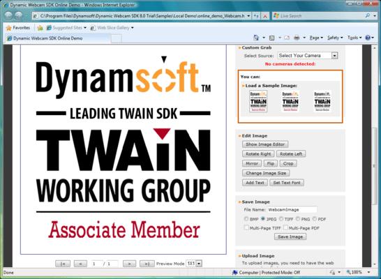 Screenshot of Dynamic Webcam SDK