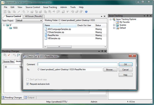 Screenshot of SCM Anywhere Standalone