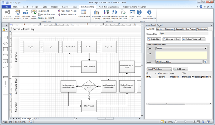 Screenshot of SmartVisio4TFS