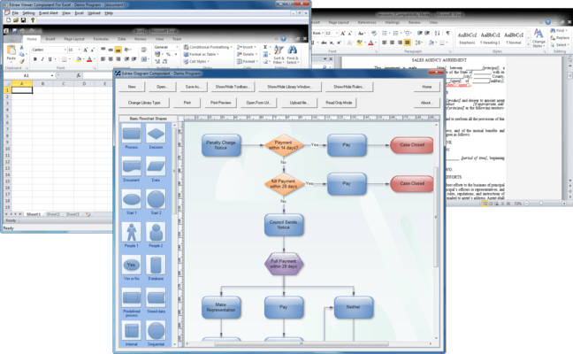 Screenshot of Edraw Office Viewer Component
